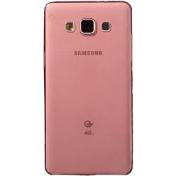 Planākais TPU dzidrs apvalks - sarkans (Galaxy A5 2015)