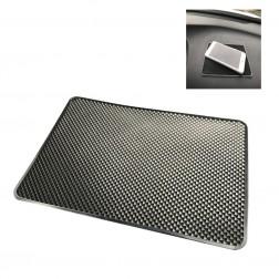 """""""Dashboard"""" lipīgs silikona paklājiņš - melns (XL lielums)"""