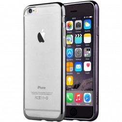 """Devia"" Glitter apvalks - dzidrs, melns + ekrāna aizsargstikls (iPhone 6 / 6S)"