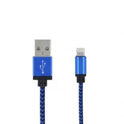 """""""Forever"""" Nylon Lightning USB vads - zils (1 m.)"""