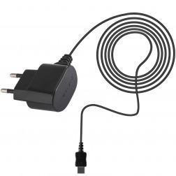 """Forever"" sienas lādētājs ar micro USB vadu - melns (0.75 A)"