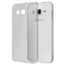 Planākais TPU dzidrs apvalks - pelēks (Galaxy E7)