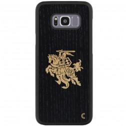 """""""Crafted Cover"""" dabīga koka apvalks - Melns Vytis (Galaxy S8+)"""