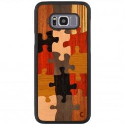 """Crafted Cover"" dabīga koka apvalks - Puzzle (Galaxy S8+)"