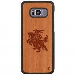 """""""Crafted Cover"""" dabīga koka apvalks - Vytis (Galaxy S8+)"""