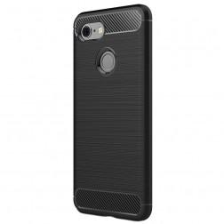 """""""Carbon"""" cieta silikona (TPU) apvalks - melns (Pixel 3)"""