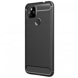 """""""Carbon"""" cieta silikona (TPU) apvalks - melns (Pixel 4A 5G)"""
