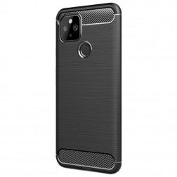 """""""Carbon"""" cieta silikona (TPU) apvalks - melns (Pixel 5)"""