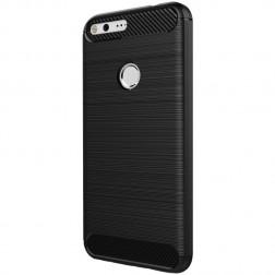 """""""Carbon"""" cieta silikona (TPU) apvalks - melns (Pixel XL)"""