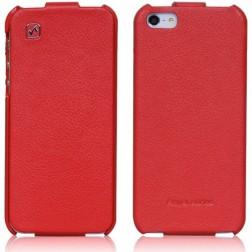 """""""HOCO"""" Duke vertikāli atvēramais futrālis - sarkans (iPhone 5 / 5S)"""