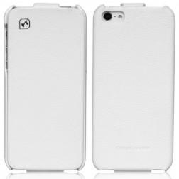 """""""HOCO"""" Duke vertikāli atvēramais futrālis - balts (iPhone 5 / 5S)"""