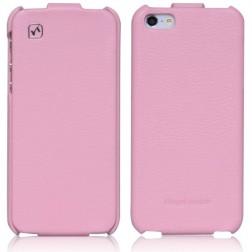 """""""HOCO"""" Duke vertikāli atvēramais futrālis - rozs (iPhone 5 / 5S)"""