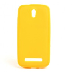 """""""Jelly Case"""" futrālis - dzeltens (Desire 500)"""