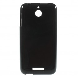 Cieta silikona (TPU) apvalks - melns (Desire 510)