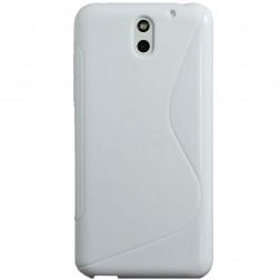 Cieta silikona futrālis - balts (Desire 610)