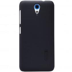 """Nillkin"" Frosted Shield apvalks - melns + ekrāna aizsargplēve (Desire 620)"