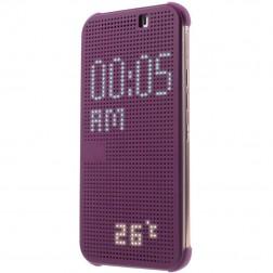 """Atvērams """"Dot View"""" maciņš - violeta (One M9)"""