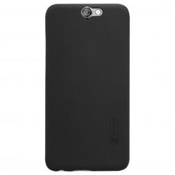 """Nillkin"" Frosted Shield apvalks - melns + ekrāna aizsargplēve (One A9)"