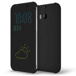 """""""HTC"""" Dot View origināls atvēramais futrālis - pelēks (One M8 / One M8s)"""
