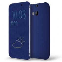 """""""HTC"""" Dot View origināls atvēramais futrālis - zils (One M8 / One M8s)"""