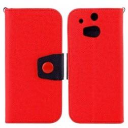 """Color"" atvērams futrālis - sarkans (One M8 / One M8s)"