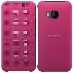 """""""HTC"""" Dot View Premium origināls atvēramais maciņš - rozs (One M9)"""