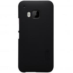 """Nillkin"" Frosted Shield apvalks - melns + ekrāna aizsargplēve (One M9)"