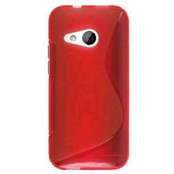 """S-Line"" cieta silikona (TPU) apvalks - sarkans (One mini 2)"