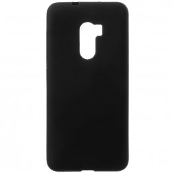 Cieta silikona (TPU) apvalks - melns (One X10)
