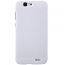 """Nillkin"" Frosted Shield apvalks - balts + ekrāna aizsargplēve (Ascend G7)"