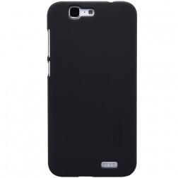 """Nillkin"" Frosted Shield apvalks - melns + ekrāna aizsargplēve (Ascend G7)"
