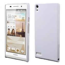 """Plasto Case"" apvalks - balts (Ascend P6)"