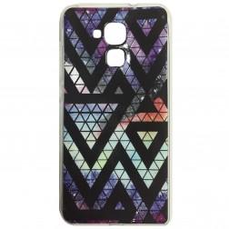 """Pattern"" cieta silikona futrālis - violeta (Honor 5c / Honor 7 Lite)"