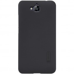 """Nillkin"" Frosted Shield apvalks - melns + ekrāna aizsargplēve (Y6 Pro)"