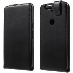 Klasisks atvēramais maciņš - melns (Nexus 6P)