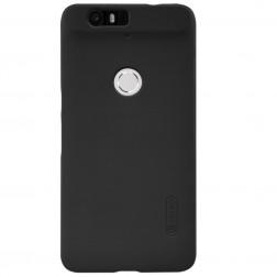 """Nillkin"" Frosted Shield apvalks - melns + ekrāna aizsargplēve (Nexus 6P)"