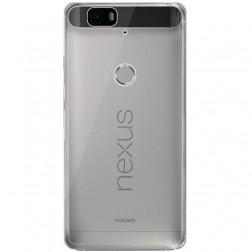 Planākais TPU dzidrs apvalks - pelēks (Nexus 6P)