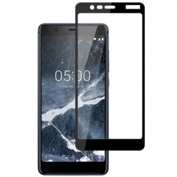 """""""Mocolo"""" Tempered Glass pilnīgi aizsedzams ekrāna aizsargstikls 0.2 mm - melns (Nokia 5.1 2018)"""