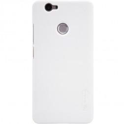 """Nillkin"" Frosted Shield apvalks - balts + ekrāna aizsargplēve (Nova)"