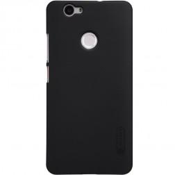 """Nillkin"" Frosted Shield apvalks - melns + ekrāna aizsargplēve (Nova)"