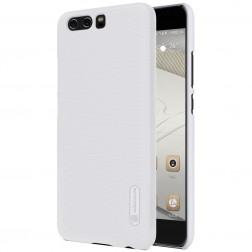 """Nillkin"" Frosted Shield apvalks - balts + ekrāna aizsargplēve (P10 Plus)"