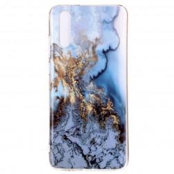 """""""Marble"""" cieta silikona (TPU) apvalks - zils (P20)"""