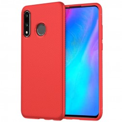 """Lenuo"" cieta silikona (TPU) apvalks - sarkans (P30 Lite)"