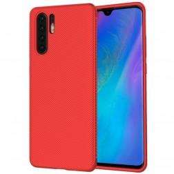 """""""Lenuo"""" cieta silikona (TPU) apvalks - sarkans (P30 Pro)"""