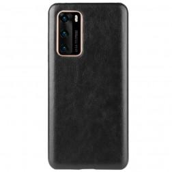 Slim Leather ādas apvalks - melns (P40)