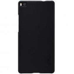 """Nillkin"" Frosted Shield apvalks - melns + ekrāna aizsargplēve (P8)"