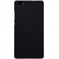 """Nillkin"" Frosted Shield apvalks - melns + ekrāna aizsargplēve (P8 Lite)"