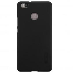 """Nillkin"" Frosted Shield apvalks - melns + ekrāna aizsargplēve (P9 Lite)"