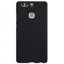 """Nillkin"" Frosted Shield apvalks - melns + ekrāna aizsargplēve (P9 Plus)"