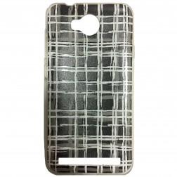 """Pattern"" cieta silikona futrālis - melns (Y3 II)"